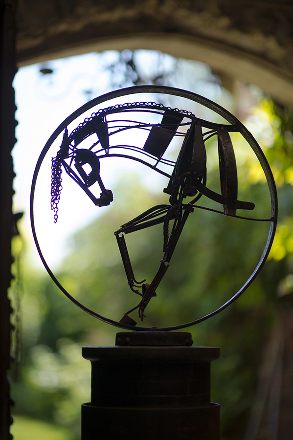 Cheval au cercle web © Nassib Traboulsi